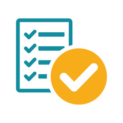 success list blank icon flat color on white background