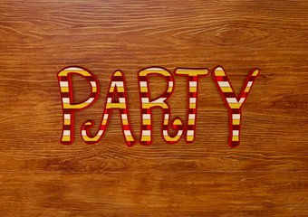 Party, 3D Typography