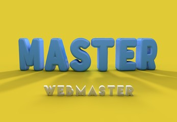 Master, Webmaster, 3D Typography
