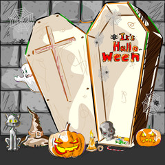 Halloween greeting background