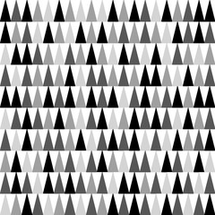 Shades of grey, black and white triangles background pointing upward. Seamless pattern