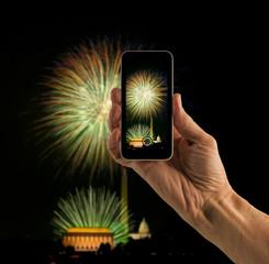 Snapshot of Washington DC fireworks