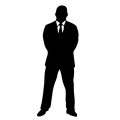 The outline of a man in a suit