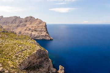 Sea landscape at the cape Formentor, Majorca, Spain
