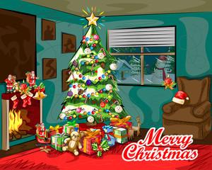 Merry Christmas festival celebration background