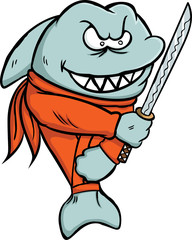Shark Ninja Cartoon