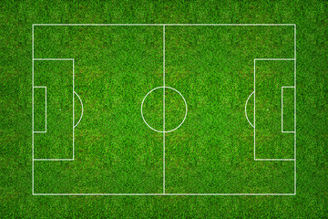Football field or soccer field pattern and texture with clipping path.