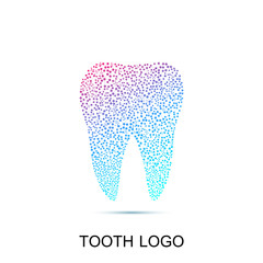 Tooth logo. Medical design. Dentist office icon. Vector illustration.