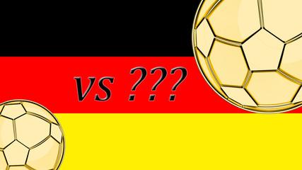 German flag soccer illustration, Germany vs ???