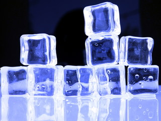 Fresh Blue Ice cubes