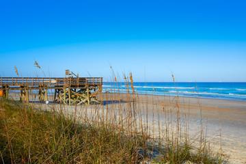 Fototapete - Atlantic Beach in Jacksonville of florida USA