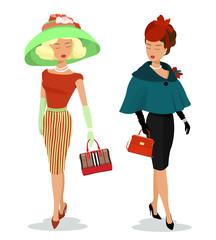 e0acfc71761 Beautiful young women in fashion clothes. Detailed women characters ...