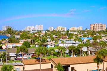 Wall Mural - Daytona Beach in Florida aerial at Port Orange