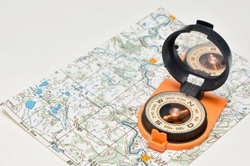 Compass & map - friends travelers.