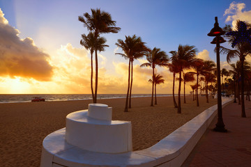 Wall Mural - Fort Lauderdale beach sunrise Florida US