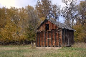 small abandoned barn in Colorado