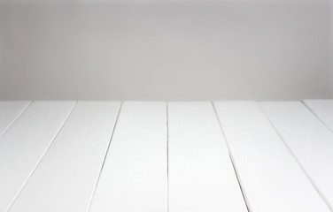 White wooden background for the product display montage