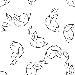 seamless of sketch cups