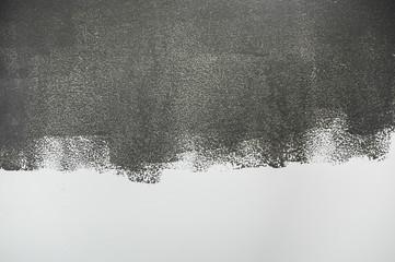 Grey paint.