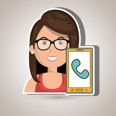 smartphone service design, vector illustration eps10 graphic