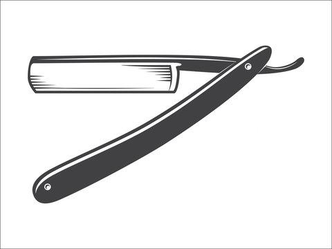 Old Straight razor vector