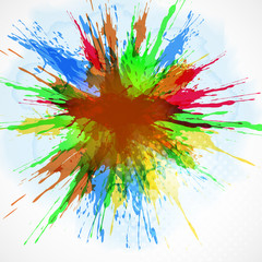 Abstract background-watercolor paint splash.