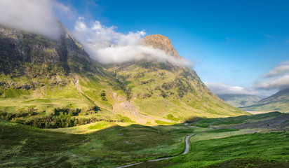 Scottish Highlands of Popular Tourism Destination -  Glen Coe