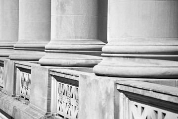 Architectural Columns on a Federal Courthouse