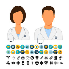 Doctors Physicians Icons