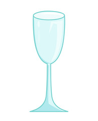 Empty glass isolated illustration