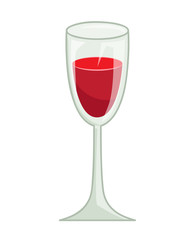 glass of red wine isolated illustration
