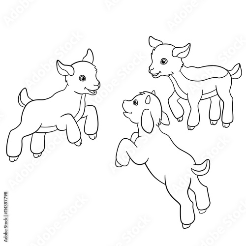 coloring pages farm animals little cute doatlings stock image and royalty free vector files. Black Bedroom Furniture Sets. Home Design Ideas