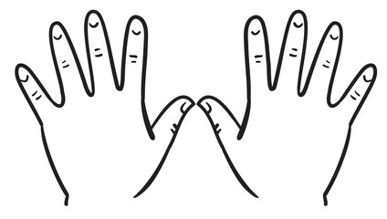 Outline of hands