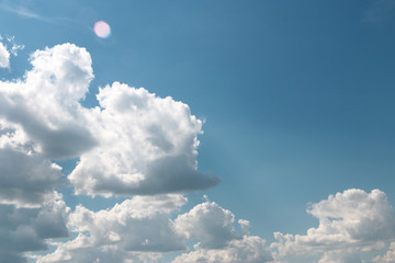beautiful sunny cloud as part of the celestial landscape
