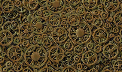 Gears Camouflage Background Design