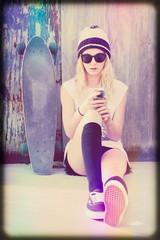 Skater Girl Texting