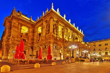 BUDAPEST, HUNGARY-MAY 05,2016: Hungarian State Opera House  is a