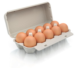 Eggs in a carton package