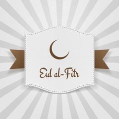 Eid al-Fitr muslim greeting Badge