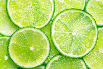 Lime slices background