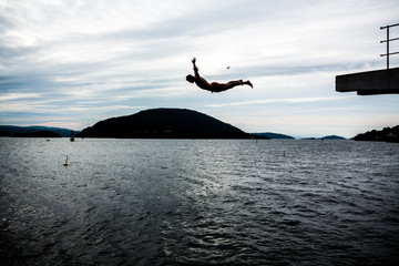 Jump in a fiord