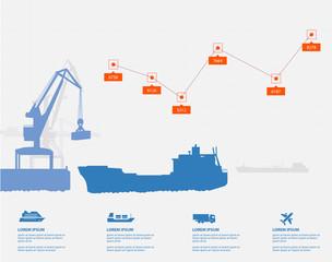 cargo ship infographics
