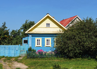 Small country wooden house