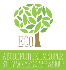 Logotype with font