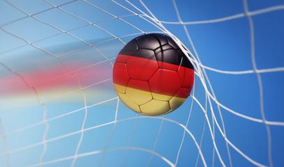 Deutschland-Fußball im Tor