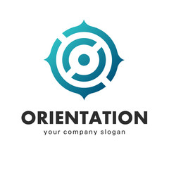 Business logo vector, orientation, point of view
