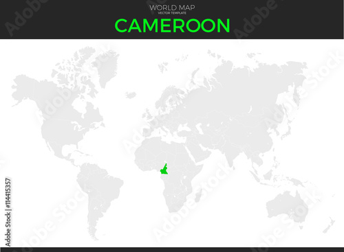 Republic of Cameroon Location Map\