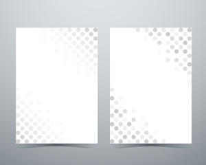 Abstract circle background, gray dot pattern, poster brochure la