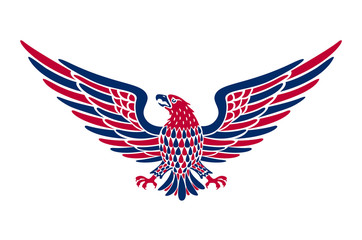 American eagle background. easy to edit vector illustration of eagle with American flag for Independence day