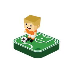 soccer player isometric cartoon